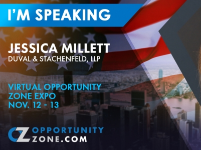 Tax Chair, Jessica Millett, Speaking at Virtual Opp Zone Expo