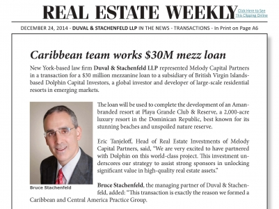 Caribbean team works $30M mezz loan