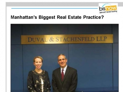 Bisnow Real Estate Features Duval & Stachenfeld's Real Estate Practice Group