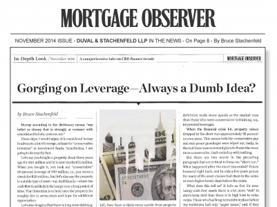 Gorging on Leverage - Always a Dumb Idea?