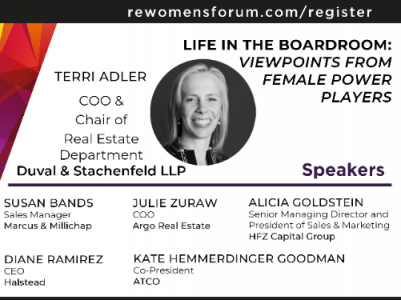 Terri Adler Speaking at the 7th Annual Real Estate Women's Forum